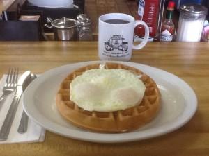 RoofersCoffeeShop mug at breakfast