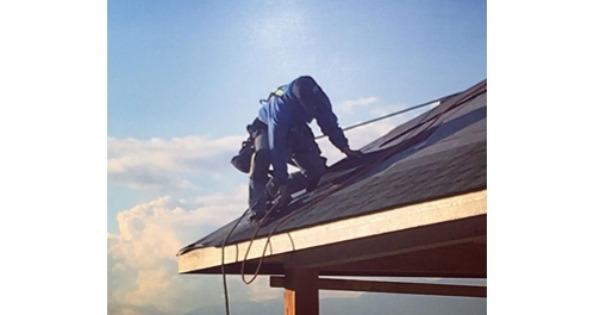 contractor on roof