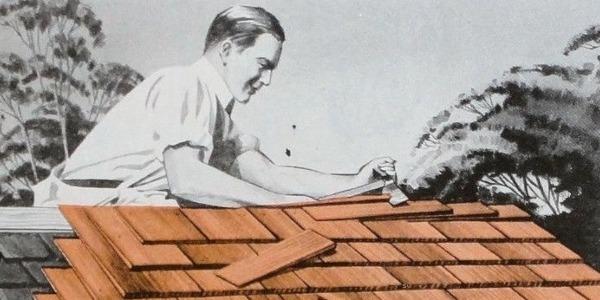 homeowner adding shingles